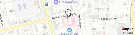 Шиномонтажная мастерская на Комсомольской на карте Комсомольска-на-Амуре
