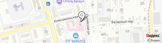 Скорая медицинская помощь на карте Комсомольска-на-Амуре