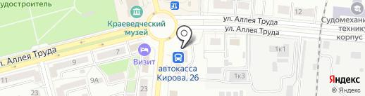 Комфорт, ТСЖ на карте Комсомольска-на-Амуре