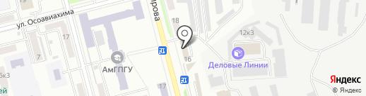 Квадрат на карте Комсомольска-на-Амуре