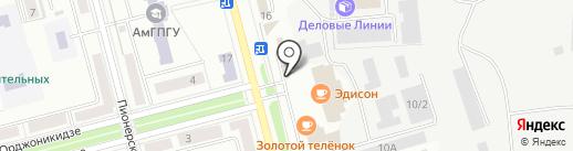Магазин по продаже сыров и мясопродуктов на карте Комсомольска-на-Амуре