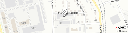 Производственное предприятие тепловых сетей, МУП на карте Комсомольска-на-Амуре