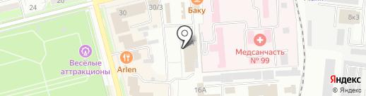 Городской рынок на карте Комсомольска-на-Амуре
