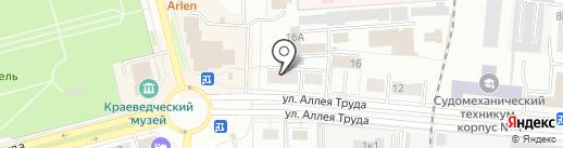 Аллея на карте Комсомольска-на-Амуре