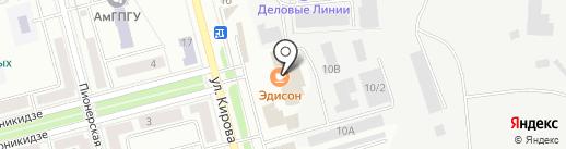 Садко на карте Комсомольска-на-Амуре
