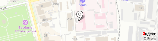 Медико-санитарная часть №99 на карте Комсомольска-на-Амуре