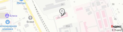 Родильный дом №3 на карте Комсомольска-на-Амуре