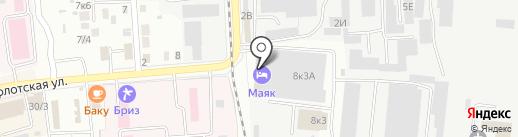 Маяк на карте Комсомольска-на-Амуре