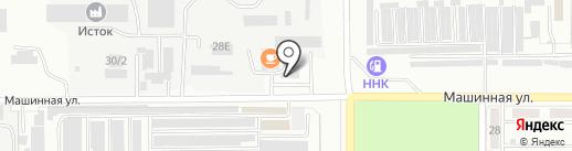 Машинный двор на карте Комсомольска-на-Амуре