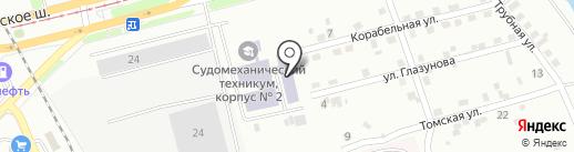 Профессиональное образовательное учреждение №11 на карте Комсомольска-на-Амуре