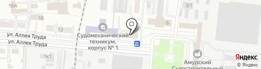 Кедр на карте Комсомольска-на-Амуре