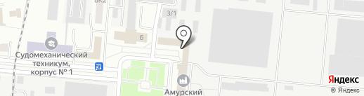 Амурский судостроительный завод, ПАО на карте Комсомольска-на-Амуре