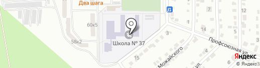 Средняя общеобразовательная школа №37 на карте Комсомольска-на-Амуре