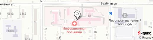 Городская больница №2 на карте Комсомольска-на-Амуре