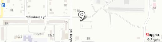 Автостоянка на Машинной на карте Комсомольска-на-Амуре