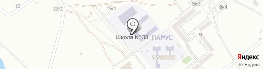 Средняя общеобразовательная школа №38 на карте Комсомольска-на-Амуре