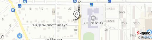 Продуктовый магазин на Московском проспекте на карте Комсомольска-на-Амуре