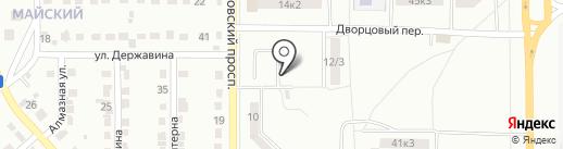 Автостоянка на Московском проспекте на карте Комсомольска-на-Амуре