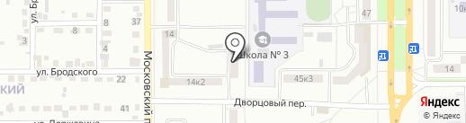 Парикмахерская на Московском проспекте на карте Комсомольска-на-Амуре