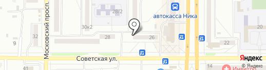 Универсал на карте Комсомольска-на-Амуре