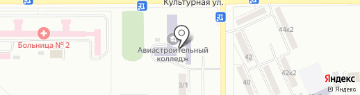 Губернаторский авиастроительный колледж г. Комсомольска-на-Амуре на карте Комсомольска-на-Амуре