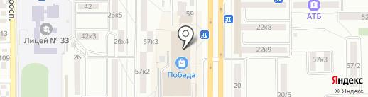 Алмила на карте Комсомольска-на-Амуре