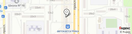 По карману на карте Комсомольска-на-Амуре