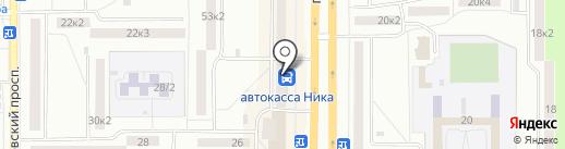 Транстур на карте Комсомольска-на-Амуре