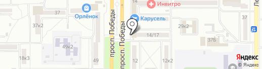 Почтовое отделение №29 на карте Комсомольска-на-Амуре