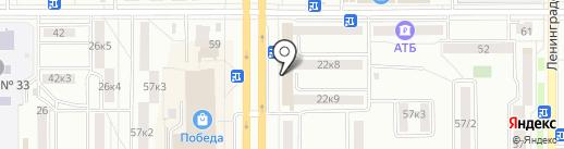 Банкомат, Банк ВТБ 24, ПАО на карте Комсомольска-на-Амуре