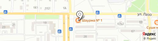 Гефест на карте Комсомольска-на-Амуре