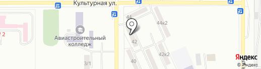 Астория на карте Комсомольска-на-Амуре