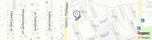 Магазин молочной продукции на карте Комсомольска-на-Амуре