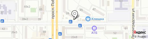 АМУРФИШ на карте Комсомольска-на-Амуре