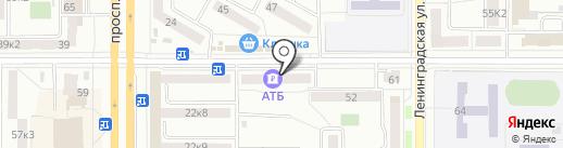 Гелиос на карте Комсомольска-на-Амуре