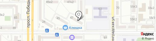 Магазин женской и детской одежды на карте Комсомольска-на-Амуре