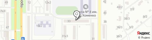 Луч на карте Комсомольска-на-Амуре