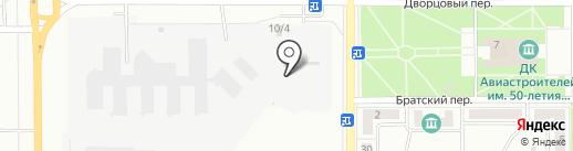 Автостоянка в Дворцовом переулке на карте Комсомольска-на-Амуре