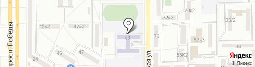 Средняя общеобразовательная школа №8 на карте Комсомольска-на-Амуре
