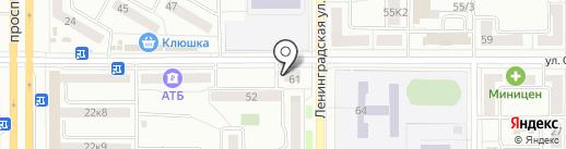 Фортуна ДВ на карте Комсомольска-на-Амуре