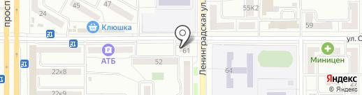 Постулат+ на карте Комсомольска-на-Амуре