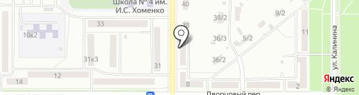 Женская консультация №4 на карте Комсомольска-на-Амуре