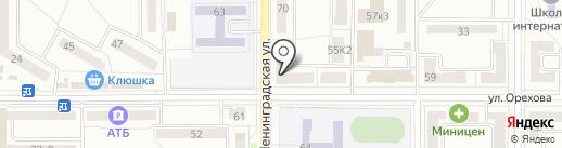 Банкомат, Дальневосточный банк на карте Комсомольска-на-Амуре