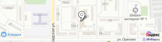 Виноград на карте Комсомольска-на-Амуре