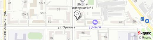 Городская централизованная библиотека №15 на карте Комсомольска-на-Амуре