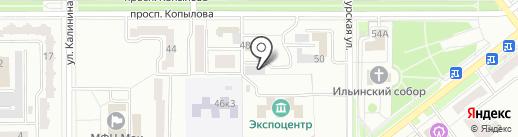 ИНВЕНТ ДВ на карте Комсомольска-на-Амуре