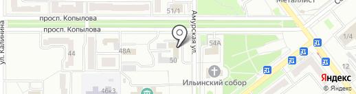 Комплексное обслуживание, благоустройство и ремонт Ленинского округа, МУП на карте Комсомольска-на-Амуре