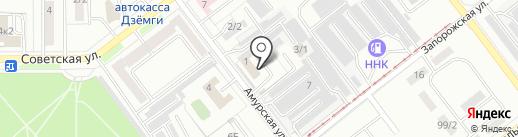 Автостоянка на карте Комсомольска-на-Амуре
