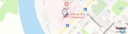 Анивская центральная районная больница им. В.А. Сибиркина на карте Анивы