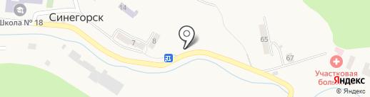 Сервис-продукты на карте Синегорска
